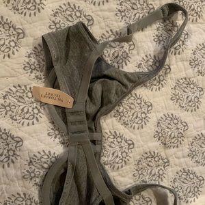 Gray unlined cotton VS bra